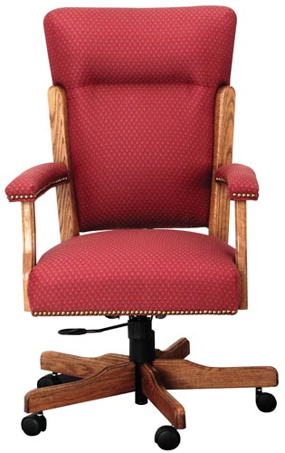 Traditional Style Executive Chair Red