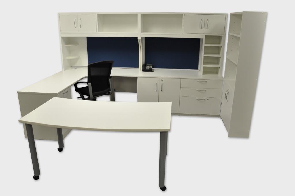 Metal Leg L-Shape Desk