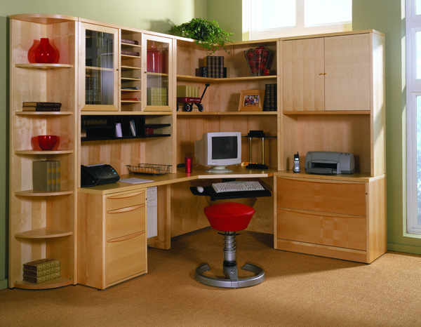 Scandia Concepts Desk & Storage Wood