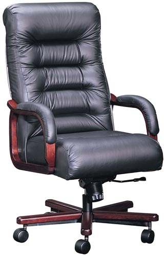 Top Of The Executive Chair Black Leather