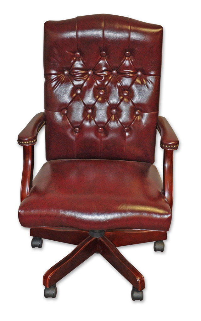 Traditional Button Swivel Chair