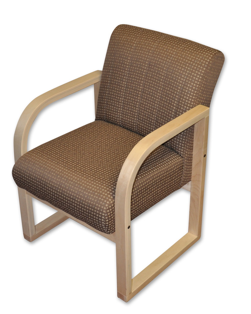 Rolled arm chair