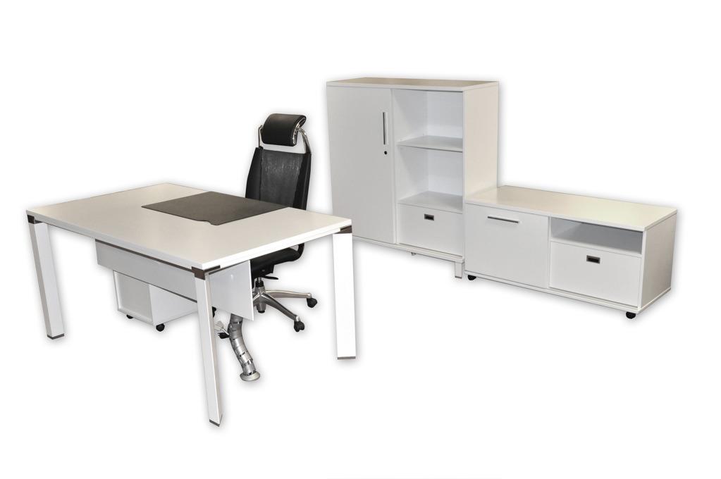 White Modular Desking System