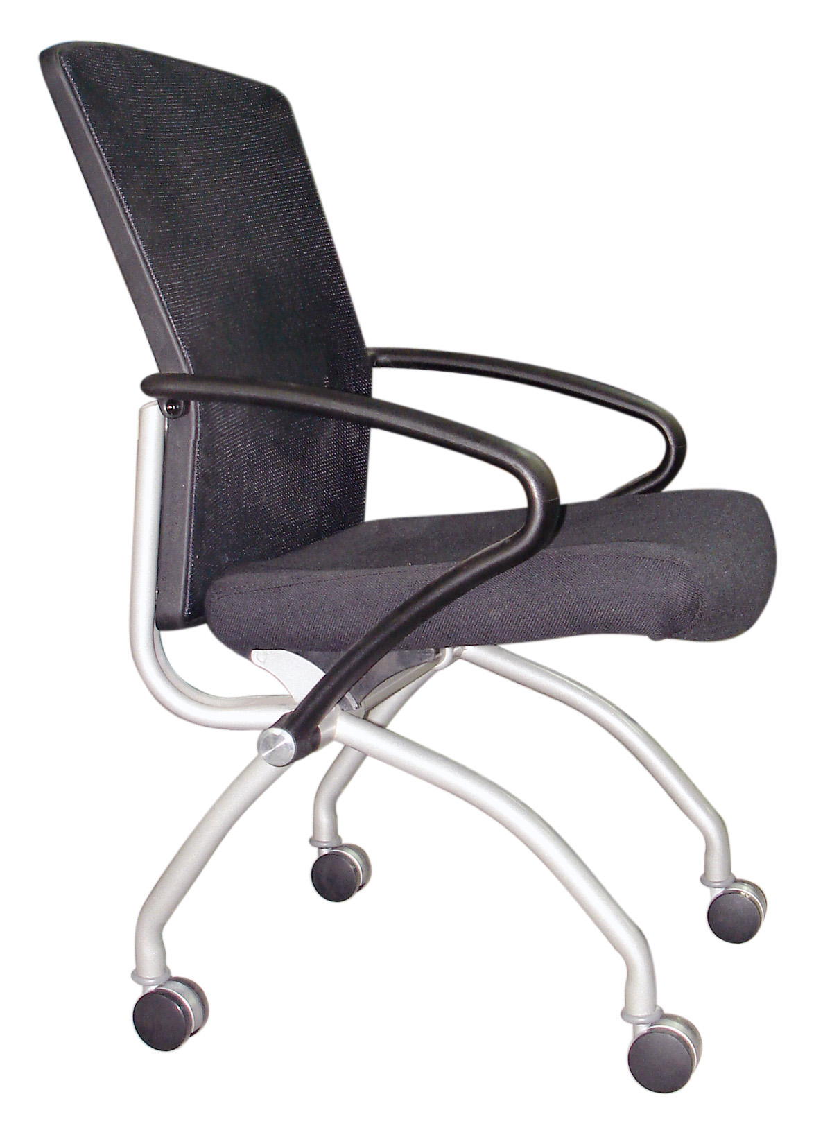 Mesh Caster Side Chair
