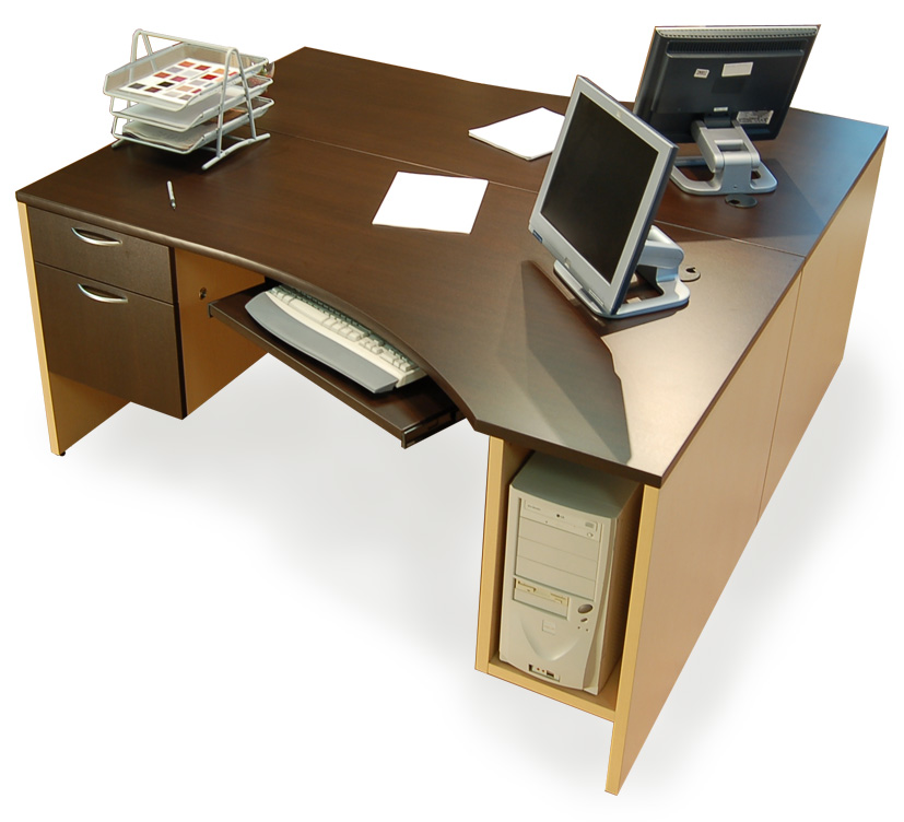 double office desk. wedge desk double office k
