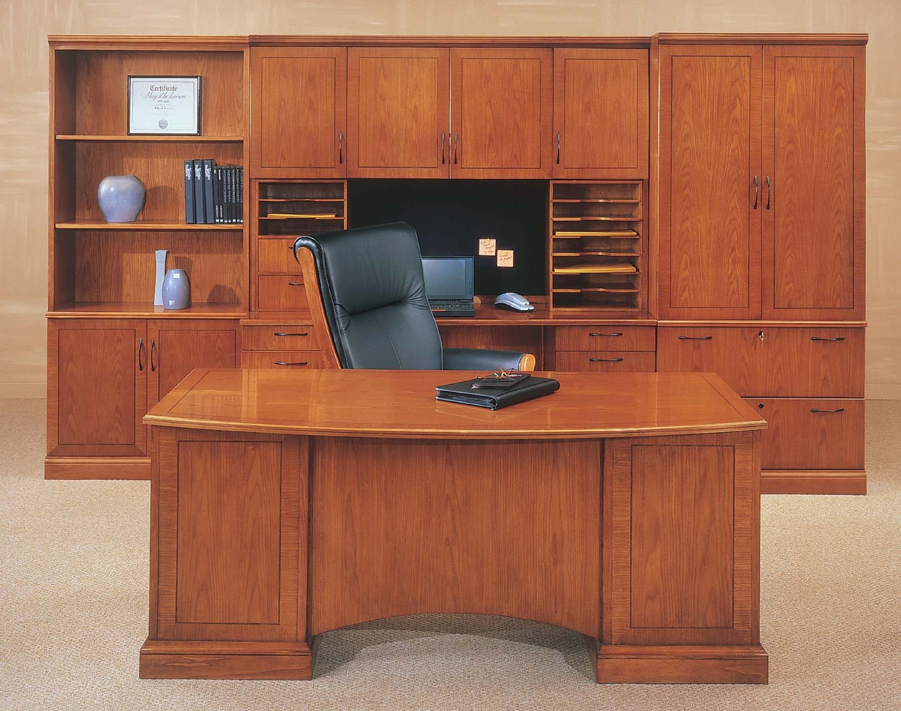 office desk with storage executive concepts brilliant wood office desk