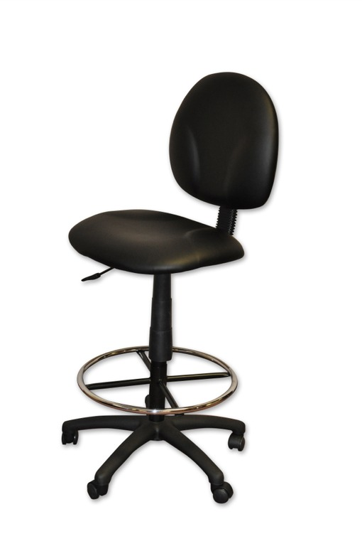 Mesh Back Drafting Stool with Footrest