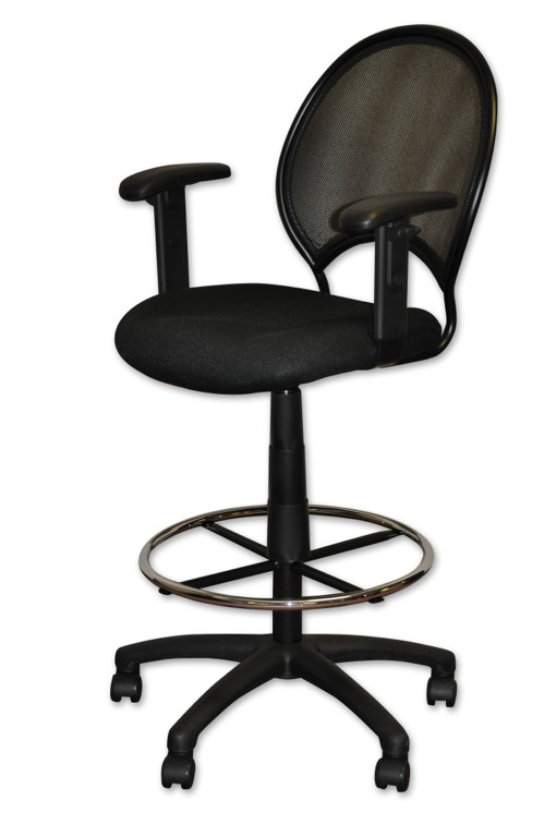 Tall Black Office Chair With Footrest