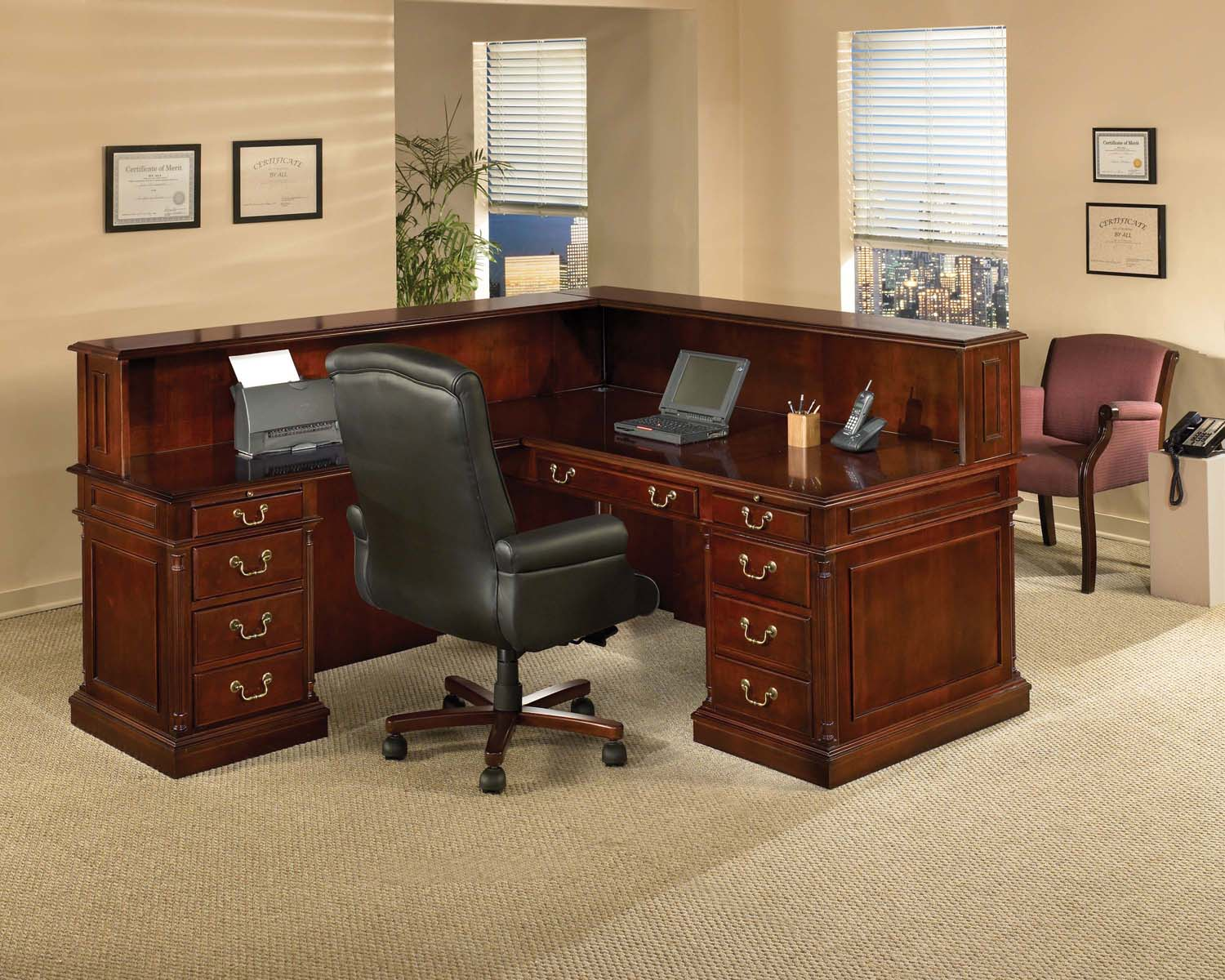 incredible office furnitureveneer modern shaped office. Hampton Traditions Office Desk Incredible Furnitureveneer Modern Shaped