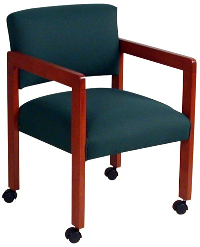 Green Caster Side Chair
