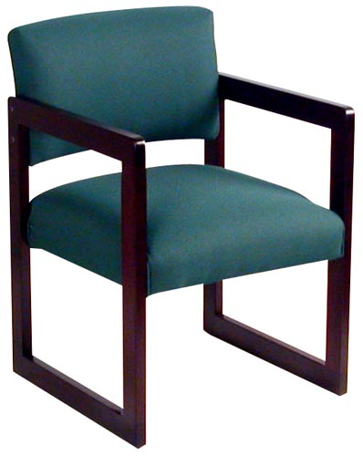 Sled Base Side Chair in Green