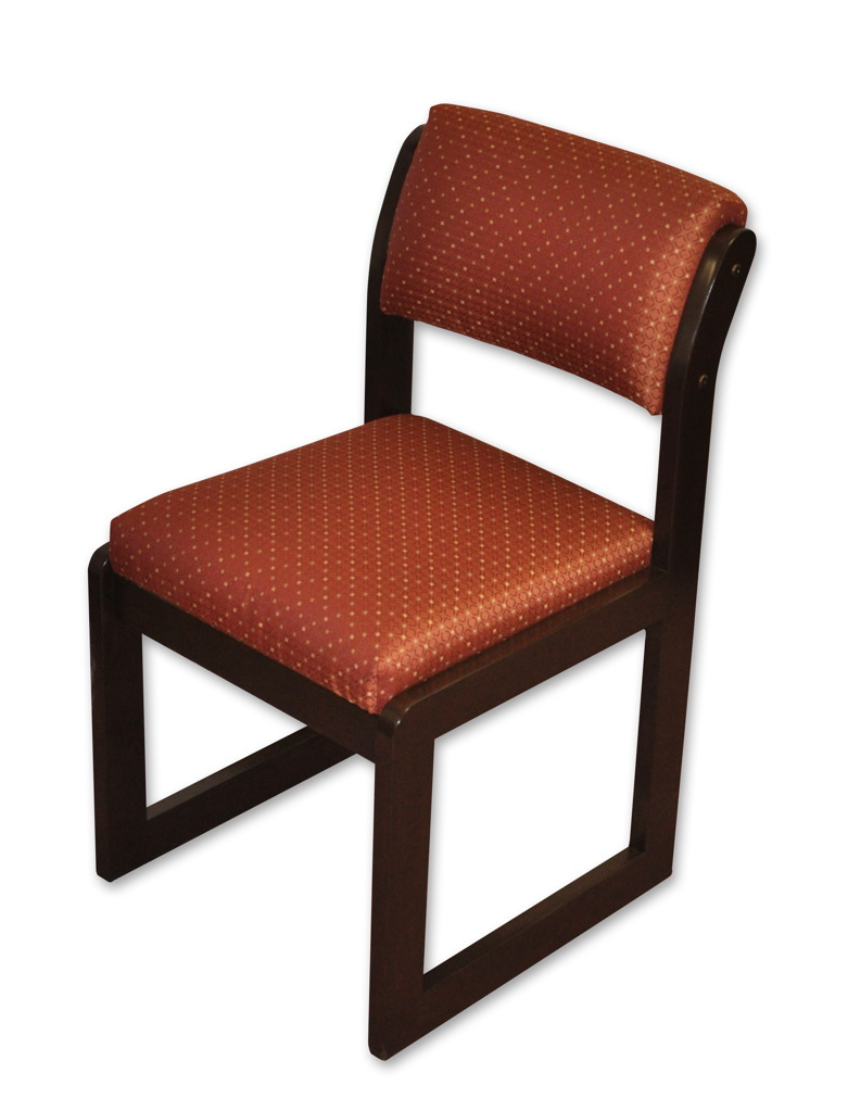 Armless Side Chair Red