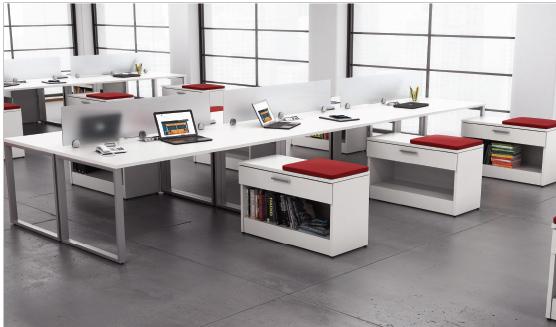 Beautiful Custom Office Furniture Set Up